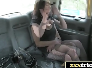 Exclusive British Prossie Fucks Lucky Taxi Au pair girl - Vickie Powell