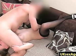 UK cocksucking blonde pussyfucks agents cock