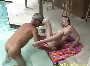 Naked paterfamilias with the addition of daughter take a sinking