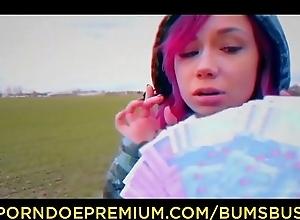 BUMS BUS - Redhead teen Kira Grinder banged..