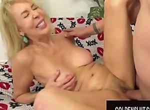 Golden Slut - Pounding Older Pussies Compilation..