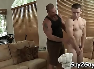 Young lads honour deployment such fiery anal moments together