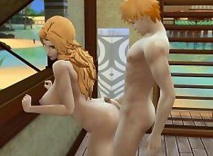Bleach en la Playa Ichigo se Folla Fuertemente a..