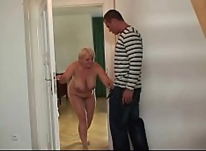 Horny big tits mother in law loves riding his dick