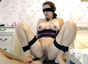 Givemeyour soul Does Nuts BDSM Act in excess of BDSMCamz.com