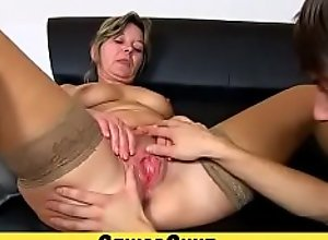 Old pussy fingered and stretched featurin granny..