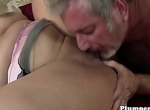 Lord it over BBW pussyfucked by seniors wang