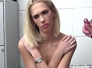 Blonde Teen Forced To Not Steal Again By Cop-..