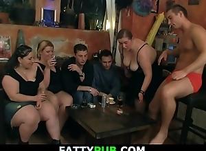 Wild plump babes are striping plus sucking cocks