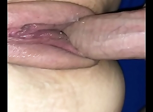 Thick cock obese pussy balls deep cum inside wet..