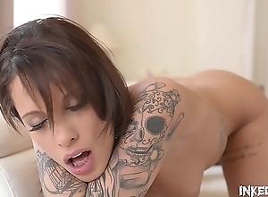 Inked Luxury Babe Nikita Bellucci Masturbating..