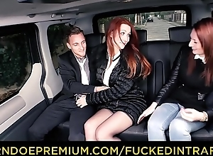 FUCKED IN TRAFFIC - Downcast Euro redhead..