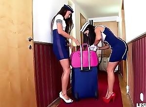 Crazy Hot Spanish Stewardess Sex anent Lorena..