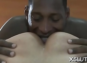 Mouth watering temptress takes pleasure facesitting shaved chap