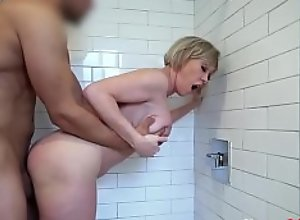 Blonde Busty Mom Caught In Shower- Dee Williams