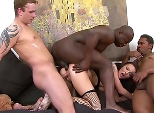 Teen gangbang fucked by 4 men hardcore and rough..