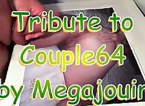 cumshot tribute to couple 64 by Megajouir