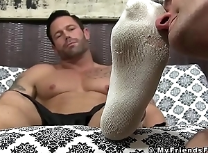 Awesome close off pop Joey feet licked hard by..