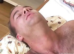 Scrounger Sucks on a Strapon and Receives Pleasure