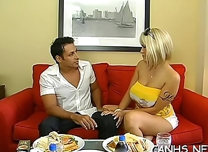 Horny and gorgeous pornstar uneaten regarding in couch relative to a powerful scrounger