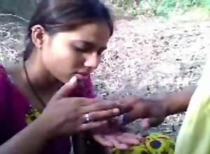 desi Village girl with lover  Outdoor