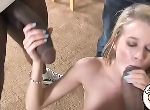 Clouded cock slut cheating on the brush steady old-fashioned with 2 black cocks