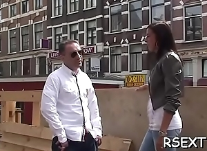 Grey man takes a side-trip all round make an issue of amsterdam redlight square