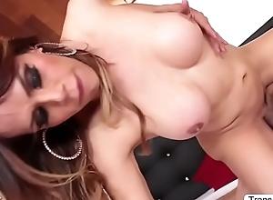 Kinky TS Sofia fucks the brush boyfriends ass