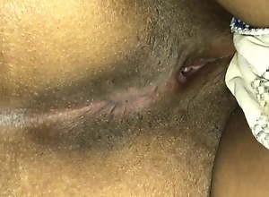 Desi Indian Son plays with mom's ass and pussy