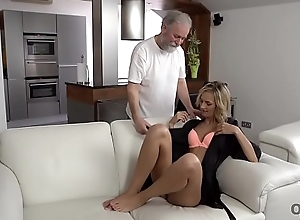 OLD4K. Jenny Throb having sex with an old man..