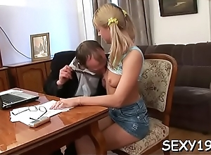 Tantalize gives old teacher blowjob pay court to..
