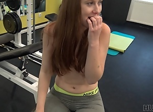 HUNT4K. Couple was working out in gym when rich..