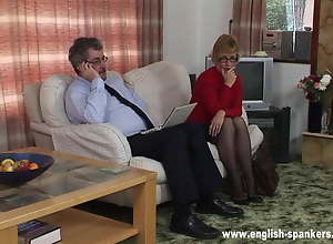 Mature Secretary spanked