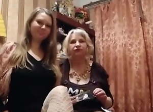 Real Mother and daughter – prostitute team..