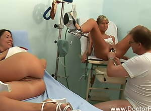 Czech MILF has a threesome with the doctor and..
