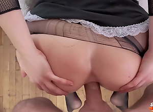 Fox Maid Hard Doggy Anal Sex in Torn Tights and..