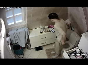 IP Camera MILF Masturbation in Toilet