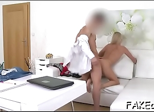 Horny beau sucks above studs significant male rod hungrily