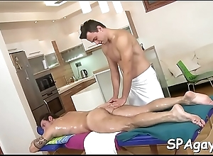 Cute twink gets a lusty kneading from respectful..