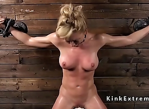 Busty Milf in subjugation rides Sybian