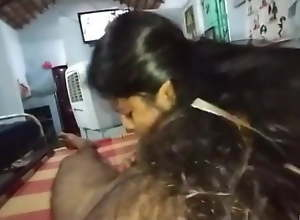 Village wife gives husband a blowjob and drinks..