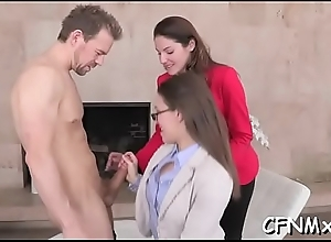Unartificial looking tot gives a massive locate a steamy infuse jerking