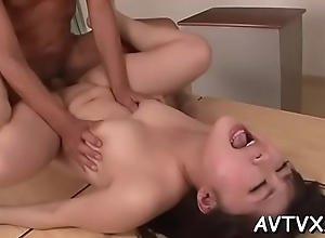 Demure asian amazes chap with licentious cowgirl riding