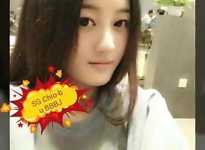 Beautiful Singaporean girl gets a facial, SG girl