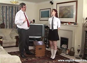 Schoolgirl Caned On Hands And Bottom
