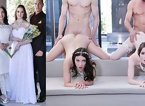 Beautiful brides with natural tits swapping..