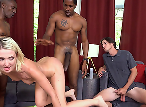 Zoe Sparx Takes Her Stepbrother's and Stepdad's..