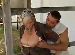 Guy seduced by 2 Grannies on the Farm