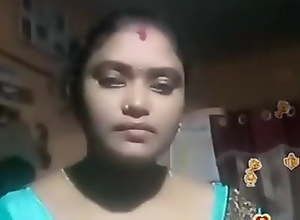 Tamil Indian BBW Blue Silky Blouse Live