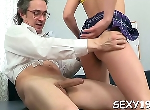 Bad babe is riding out of reach of teacher'_s everlasting rod arduously
